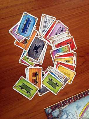 """Ticket to Ride"" game cards"