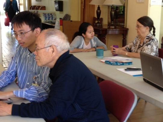 Advocates outreach at Stevenson House, a senior housing community in Palo Alto